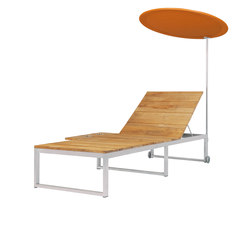Oko Lounge sun lounger with tray & shade | Liegestühle | Mamagreen