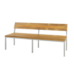 Oko bench 185 cm with backrest (post legs) | Benches | Mamagreen