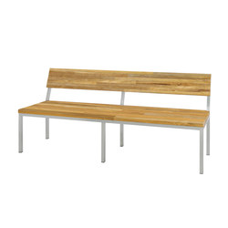 Oko bench 185 cm with backrest (post legs - random) | Bancs de jardin | Mamagreen