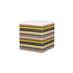 Stripe stool horizontal | Poufs | Mamagreen