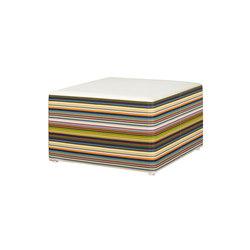 Stripe ottoman horizontal | Poufs de jardin | Mamagreen