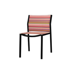Stripe dining stackable side chair | Sièges de jardin | Mamagreen