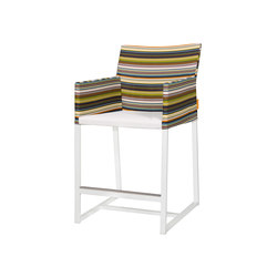 Stripe counter armchair | Tabourets de bar de jardin | Mamagreen