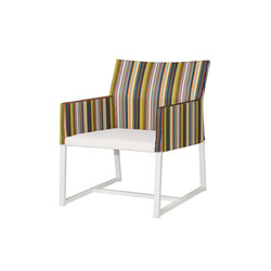 Stripe casual chair (vertical-leisuretex seat) | Garden armchairs | Mamagreen