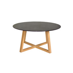 Twizt dining table Ø 150 cm (smoked glass) | Garten-Esstische | Mamagreen