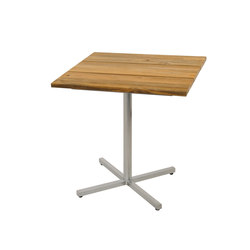 Oko dining table 75x75 cm (Base C - diagonal) | Garten-Bistrotische | Mamagreen