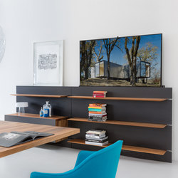 Balance Mediasystem Panel Wall | Multimedia sideboards | Zoom by Mobimex