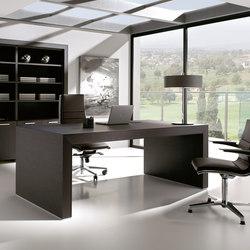 Escritorios ejecutivos-Sillas direccionales-Mesas de oficina-Belesa negro-Ofifran