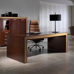 Escritorios ejecutivos-Sillas direccionales-Mesas de oficina-Belesa wengue roble-Ofifran