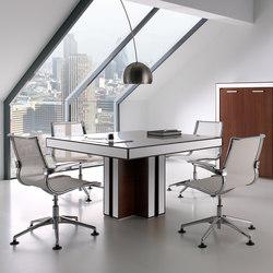 Mesas de reuniones-Conferencia-reunión-Belesa nogal blanco-Ofifran