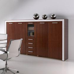 Aparadores-cómodas-Muebles de archivo-Archivo-Belesa nogal blanco-Ofifran