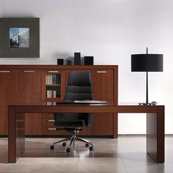 Escritorios ejecutivos-Sillas direccionales-Mesas de oficina-Belesa nogal-Ofifran