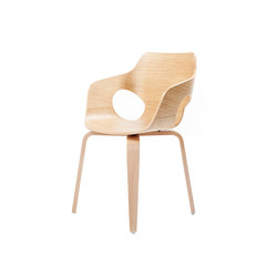 Curved Oak Chair | Chaises | dutchglobe