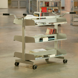 Sistema Store Trolley Double | Book trolleys | BD Barcelona