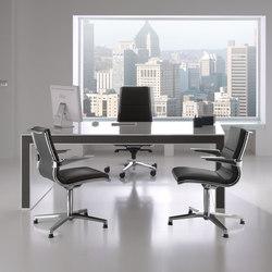 Escritorios ejecutivos-Sillas direccionales-Mesas de oficina-Belesa Blanco Negro-Ofifran