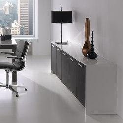 Aparadores-cómodas-Muebles de archivo-Archivo-Belesa Blanco Negro-Ofifran