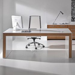 Escritorios ejecutivos-Sillas direccionales-Mesas de oficina-Belesa blanco nogal-Ofifran