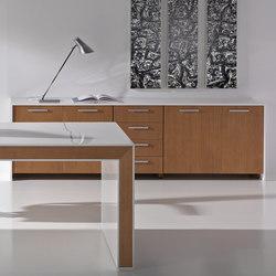 Aparadores-cómodas-Muebles de archivo-Archivo-Belesa blanco nogal-Ofifran