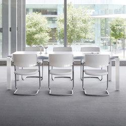 Mesas de reuniones-Conferencia-reunión-Concepto Free blanco blanco-Ofifran