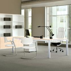 Sillas direccionales-Mesas de reuniones-Mobiliario de dirección-Concepto Free blanco maple-Ofifran
