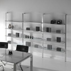 Sistemas de estantería-Archivo-Concepto Free cromo cristal blanco-Ofifran