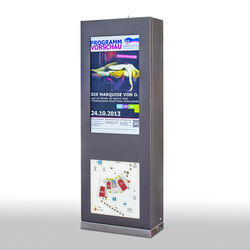 Berta Outdoor-Stele | Digital signage | Meng Informationstechnik