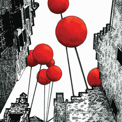 Street Art | Balloon City - Reach for the sky | Bespoke wall coverings | Mr Perswall