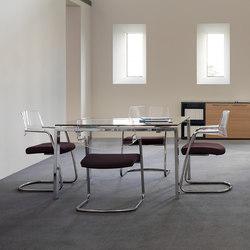 Mesas de reuniones-Conferencia-reunión-Concepto Free natural piel marron-Ofifran