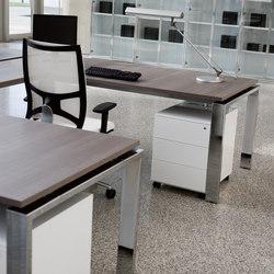 Escritorios individuales-Mesas de oficina-Concepto Free cromo teka ceniza-Ofifran