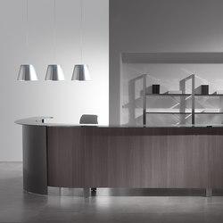 Concepto Free cromo teka ceniza cristal | Reception desks | Ofifran