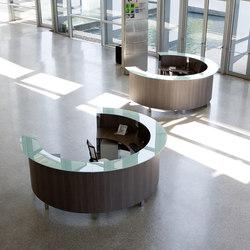 Mostradores de recepción-Entrada-recepción-Concepto Free cromo teka ceniza cristal-Ofifran