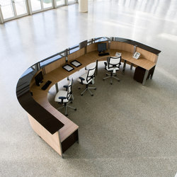 Concepto Free cromo teka natural cristal marron | Reception desks | Ofifran