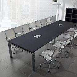 Mesas de conferencias-Mesas de conferencia multimedia-Conferencia-reunión-Concepto Free negro cromo-Ofifran
