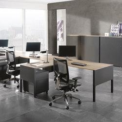 Lance mesa con ala auxiliar | Desks | Ofifran