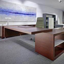 Prima Sinfonia mesa con mueble auxiliar | Bureaux de direction | Ofifran