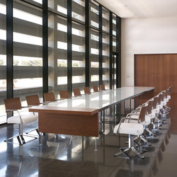 Prima Sinfonia juntas teka cristal blanco | Contract tables | Ofifran