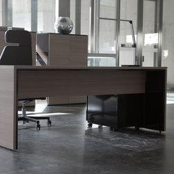 Escritorios individuales-Sillas direccionales-Mesas de oficina-Urbana teka natural marron-Ofifran