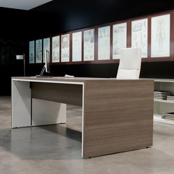 Urbana teka ceniza blanco | Executive desks | Ofifran