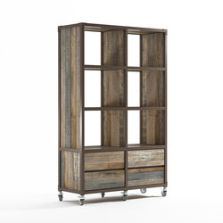 Atelier VERTICAL RACK 6 COMPARTMENTS 4 DRAWERS | Librerías | Karpenter