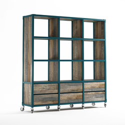 Atelier VERTICAL RACK 9 COMPARTMENTS 6 DRAWERS | Shelving | Karpenter