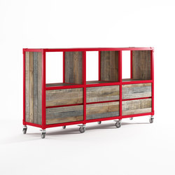 Atelier RACK HORIZONTAL 3 COMPARTMENTS 6 DRAWERS | Estantería | Karpenter