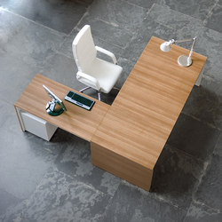 Urbana teak natural blanco | Desks | Ofifran
