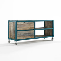 Atelier TV CHEST 2 COMPARTMENTS 2 DRAWERS | Multimedia sideboards | Karpenter