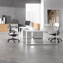 Meta blanco blanco separador teka | Desking systems | Ofifran