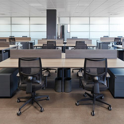 Meta teak natural antracita | Desking systems | Ofifran