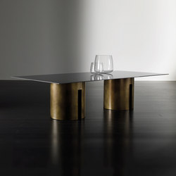 Gong Dining table | Mesas comedor | Meridiani