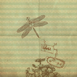 Bye Bye Dragonfly | Wall art / Murals | Inkiostro Bianco
