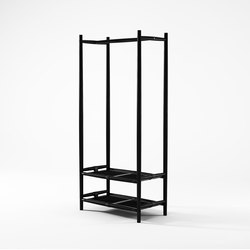Nomad SHOE RACK AND HANGER | Freestanding wardrobes | Karpenter