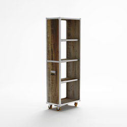 Roadie VERTICAL STORAGE W/ 4 COMPARTMENTS | Librerías | Karpenter