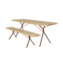 Kampenwand Bench and Table | Mesas y bancos | Moormann